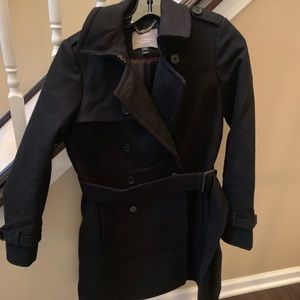 Jcrew petite icon trench in wool-cashmere